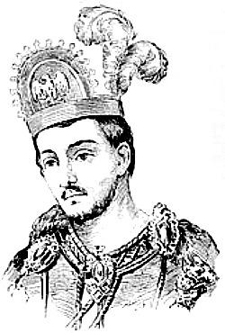 Drawing of Montezuma.
