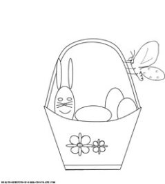 Easter basket coloring page.