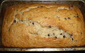 Chocolate chip banana bread recipe.