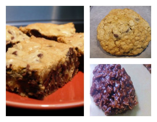 Collage of chocolate cookies made with recipes listed on this page.