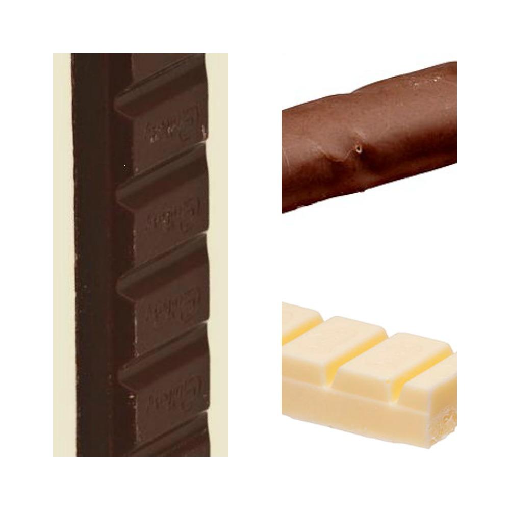 Three chocolate bars.