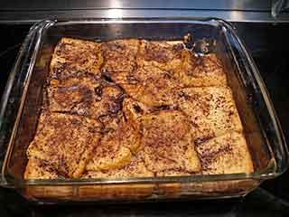 Chocolate bread pudding recipe.