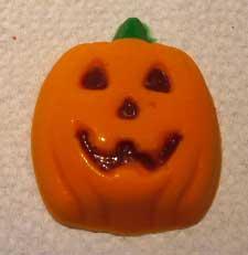 homemade jack-olatern halloween candy