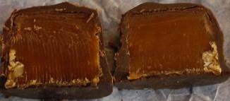 Creamy caramel centers!