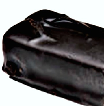 A piece of dark chocolate candy.  Source:WikimediaCommons