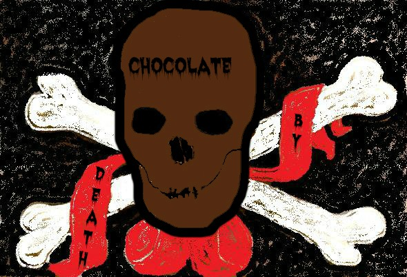 Death by chocolate skull.