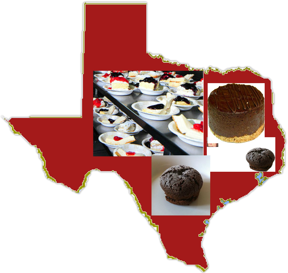 State of Texas chocolate desserts.