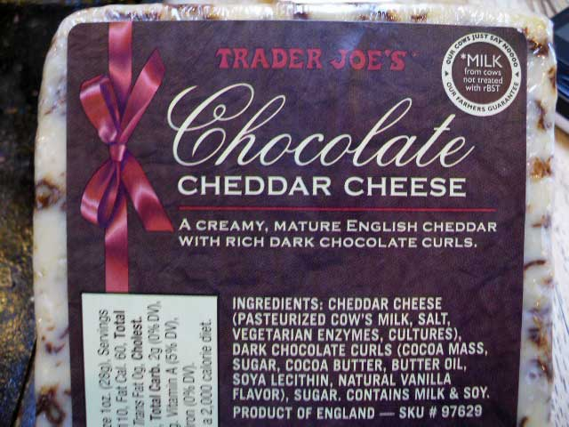 chocolate cheese from trader joes