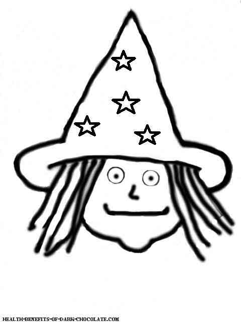 Witch coloring page.