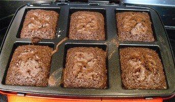 American originals brownie-maker with baked brownies