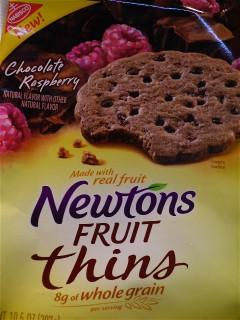 Package of Newtons Chocolate Raspberry  Cookies